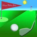 Golf on Fathers Day Royalty Free Stock Images