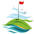 Golf field symbolic illustration of a Stock Images