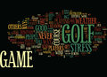 Golf The Great Stress Reliever Word Cloud Concept Royalty Free Stock Photo
