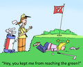 Golf hey you kept me from reaching the green Royalty Free Stock Photography