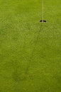 Golf hole and grass on a course Stock Photography