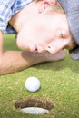 Golf Hole In One Puff Royalty Free Stock Photography