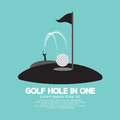 Golf Hole in One Sport Symbol Royalty Free Stock Photo