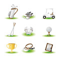 Golf icons Royalty Free Stock Image