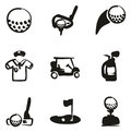 Golf Icons Freehand Fill