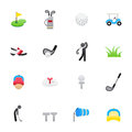 Golf Icons. Set of Sport Icons, Vector Illustration Color Icons Flat Style. Royalty Free Stock Photo