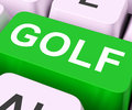 Golf key means golfing online or golfer meaning club Stock Images