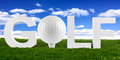 Golf lettering Royalty Free Stock Photos