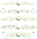 Golf page dividers Royalty Free Stock Image