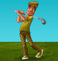 The golf player Royalty Free Stock Image