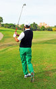 Golf player, Andalusia, Spain Royalty Free Stock Photo