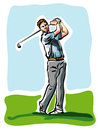 Golf player illustration of a Stock Photo