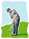 Golf player illustration of a Stock Images