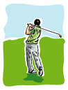 Golf player illustration of a Stock Photography