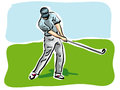Golf player illustration of a Royalty Free Stock Photos