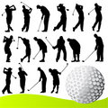Golf player vector Royalty Free Stock Photo