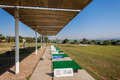 Golf practice range sun protection with shade awnings at mount edgecombe courses one and two in durban south africa Stock Photography