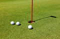 Golf: putting green Royalty Free Stock Photo