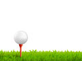 Golf Realistic Illustration Royalty Free Stock Photo