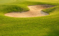 Golf sand trap nobody likes a Royalty Free Stock Photo
