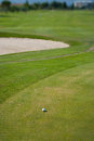 Golf scenes ball on a course Royalty Free Stock Photo