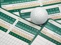 Golf Scorecards Stock Photos