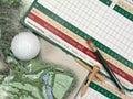 Golf Scorecards Stock Images
