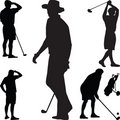 Golf silhouette vector Royalty Free Stock Photo