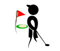 Golf silhouettes vector player eps Stock Images