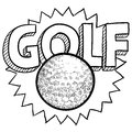 Golf sketch Royalty Free Stock Photography