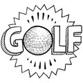 Golf sketch Stock Image