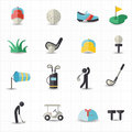 Golf sport icons this image is a vector illustration Royalty Free Stock Photography