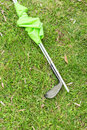 Golf stick in a grass Royalty Free Stock Photo