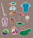 Golf stickers Stock Images