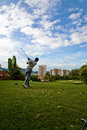 Golf swing Stock Photo