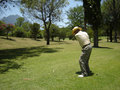 Golf Swing Shoot Royalty Free Stock Photography
