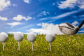 Golf theme with vivid colors summer sports colorful concept grass Royalty Free Stock Photos