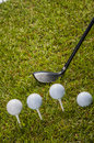 Golf theme with vivid colors summer sports colorful concept grass Stock Images