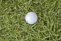 Golf top view ball on grass Stock Photo