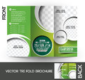 Golf tournament brochure tri fold mock up design Stock Photo