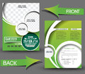 Golf tournament flyer front back template Royalty Free Stock Photo