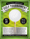 Golf tournament flyer an illustration of a perfect for tournaments and events eps file available eps file is layered for easy Stock Photography
