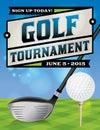 Golf Tournament Flyer Illustra...
