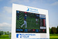 Golf tournament leaderboard from the nordea masters on the european tour Royalty Free Stock Photos