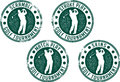 Golf Tournament Stamps Stock Photography