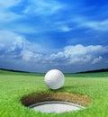 Golfbal op lip