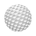 Golfball realistic vector. Image of single golf equipment, ball illustration isolated on white background. Royalty Free Stock Photo
