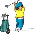 Golfer cartoon Royalty Free Stock Images