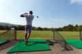 Golfer at the Driving Range Royalty Free Stock Photo