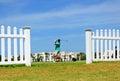 Golfer on the golf course of Costa Ballena, Rota, Cadiz province, Spain Royalty Free Stock Photo